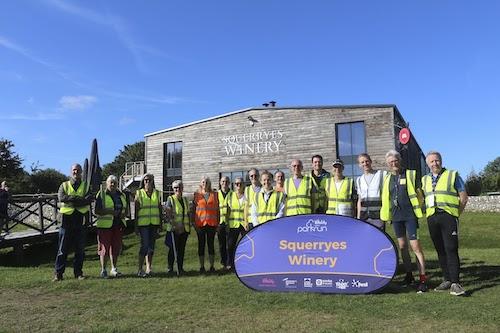 Squerryes Winery parkrun Volunteers