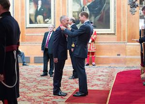 Paul collects a CBE