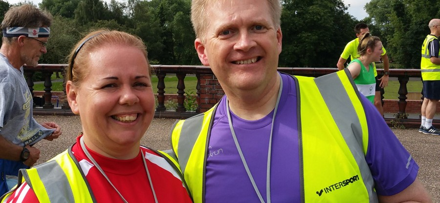 Simon Clarke volunteering at Hanley parkrun