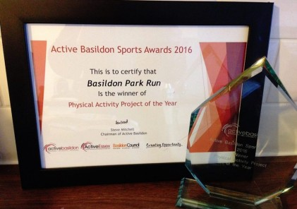 Basildon parkrun award