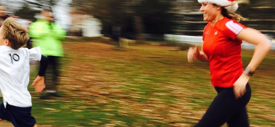 Sophie sprinting