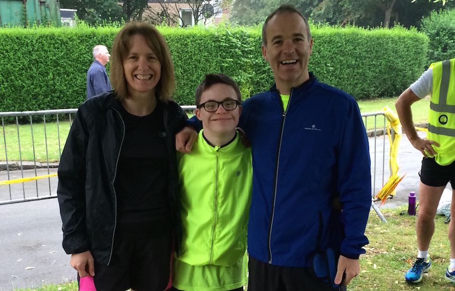 George Webster with his parents