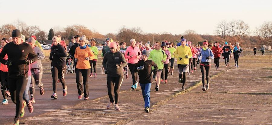 parkrun - running down the runway on our inaugural