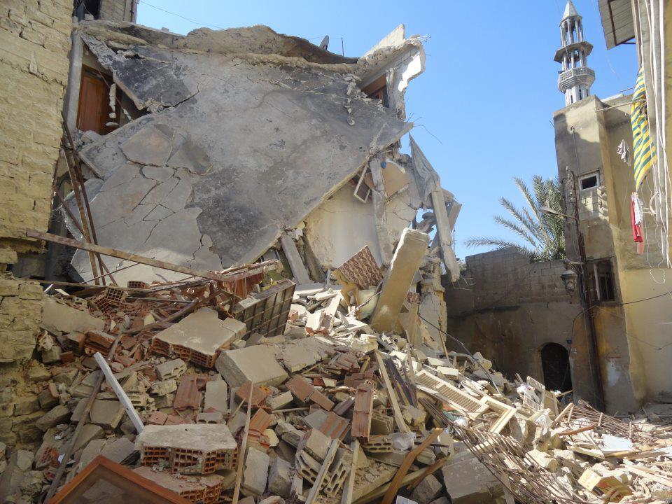 Fawaz's family home in Homs destroyed