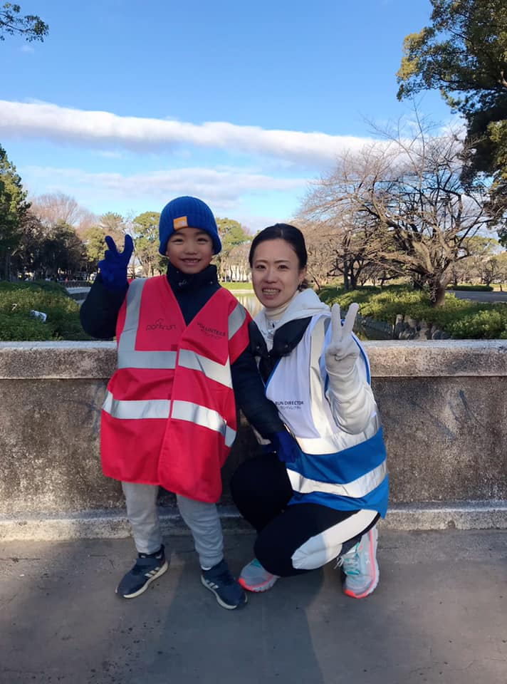 Volunteering_Mum and son