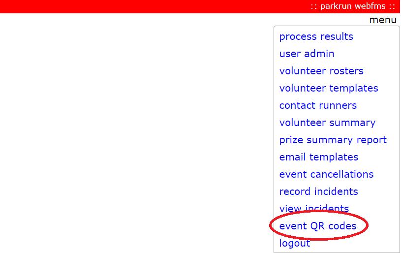 WebFMS QR codes