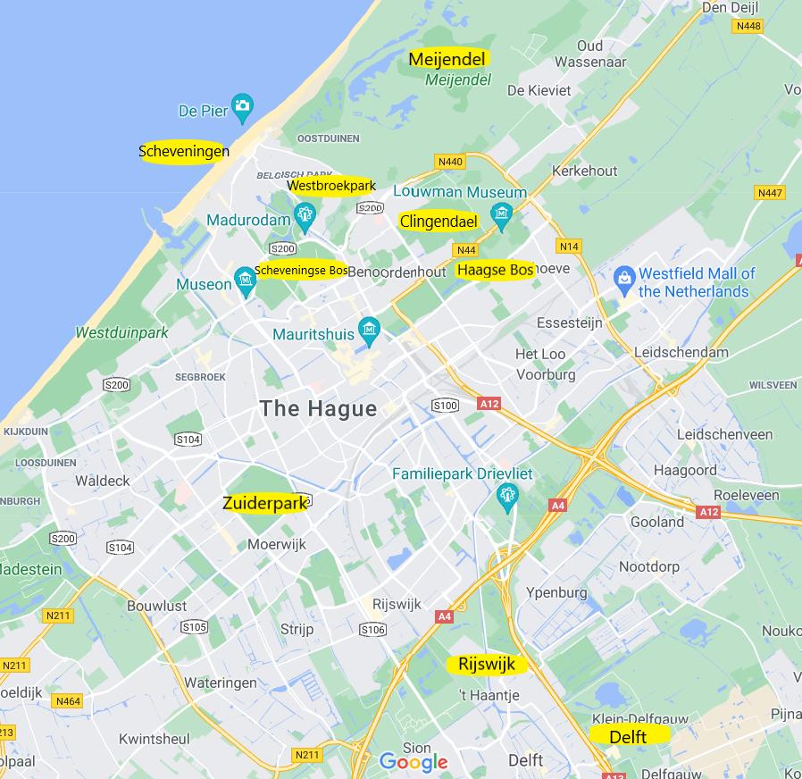 map of notparkruns