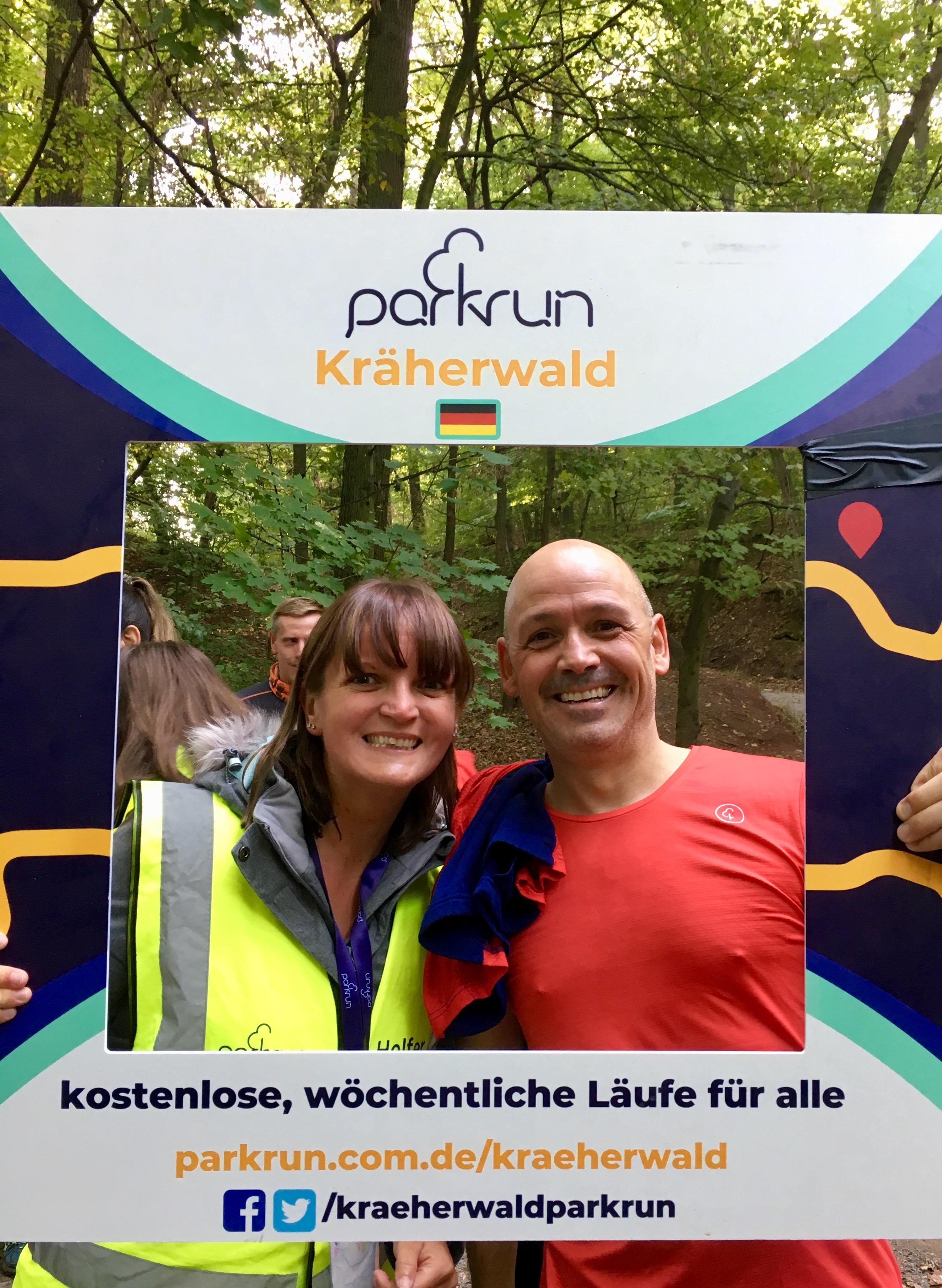 007 2018 September Germany Kraherwald parkrun with my husband