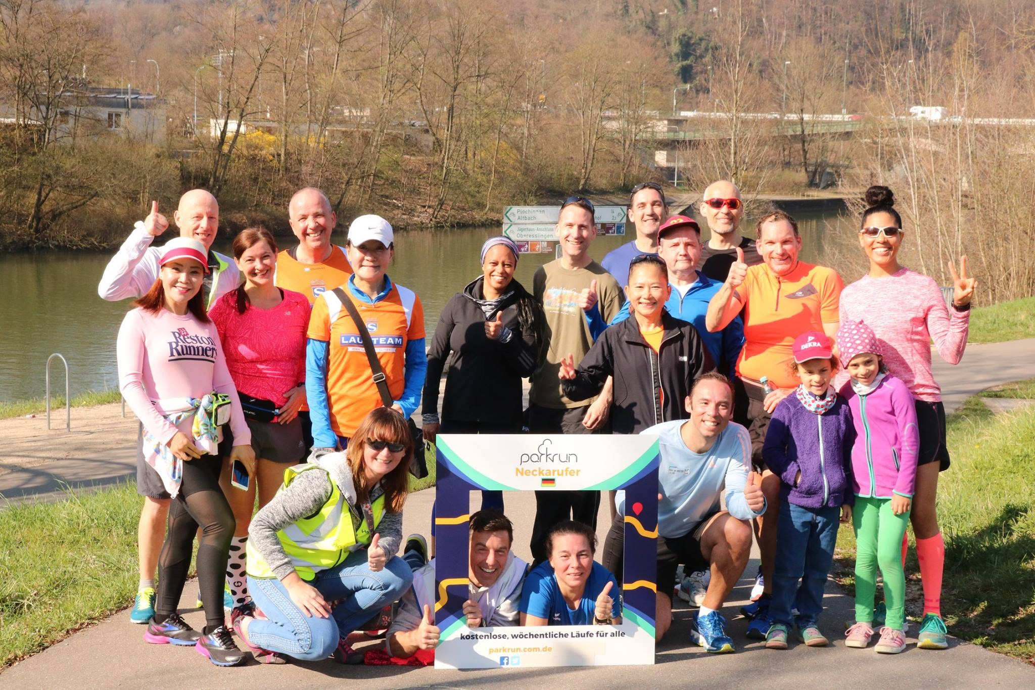 011 2019 April Germany Neckarufer parkrun my new and current parkrun family