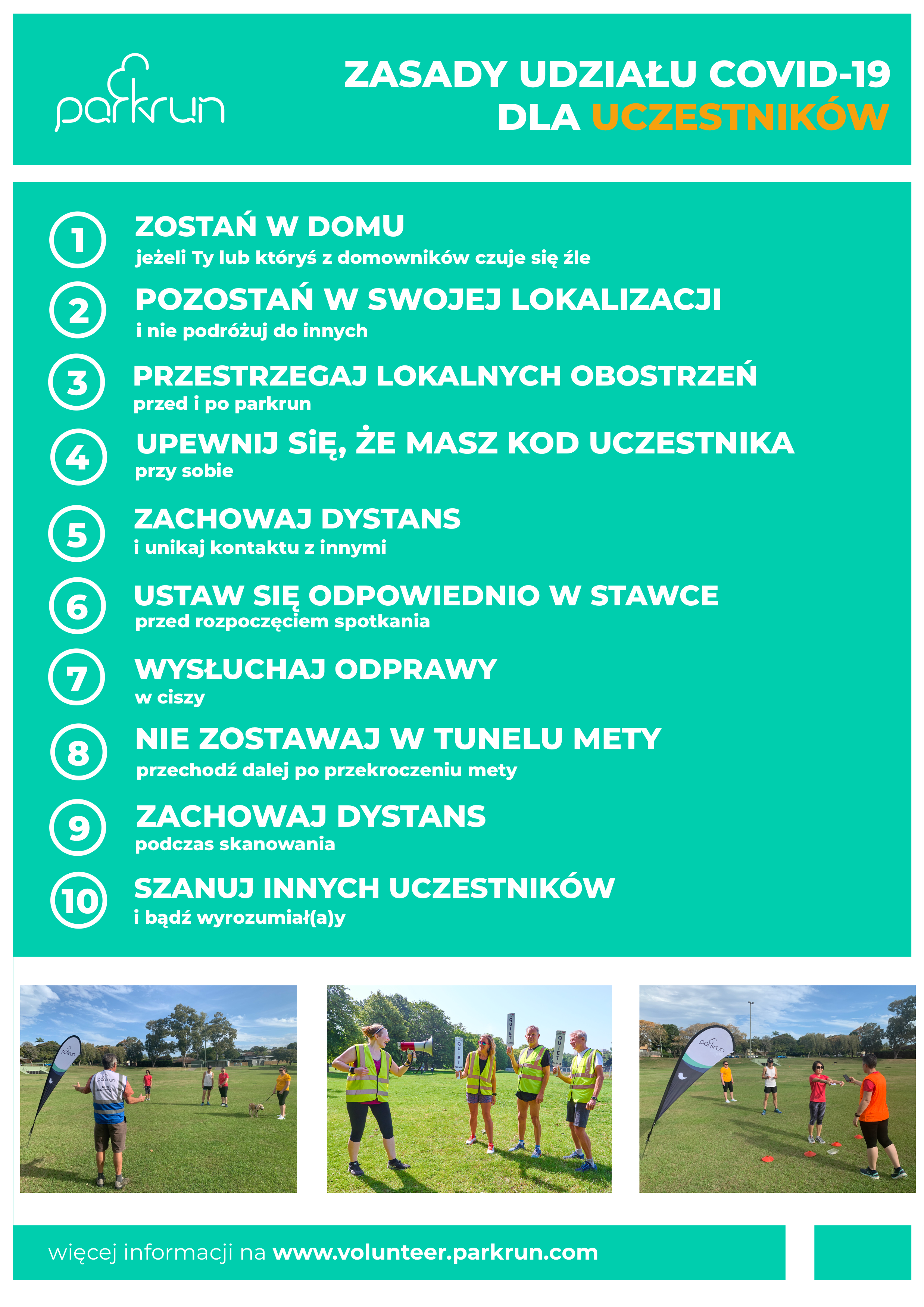 COVID19 parkrun code of conduct_PL uczestnicy