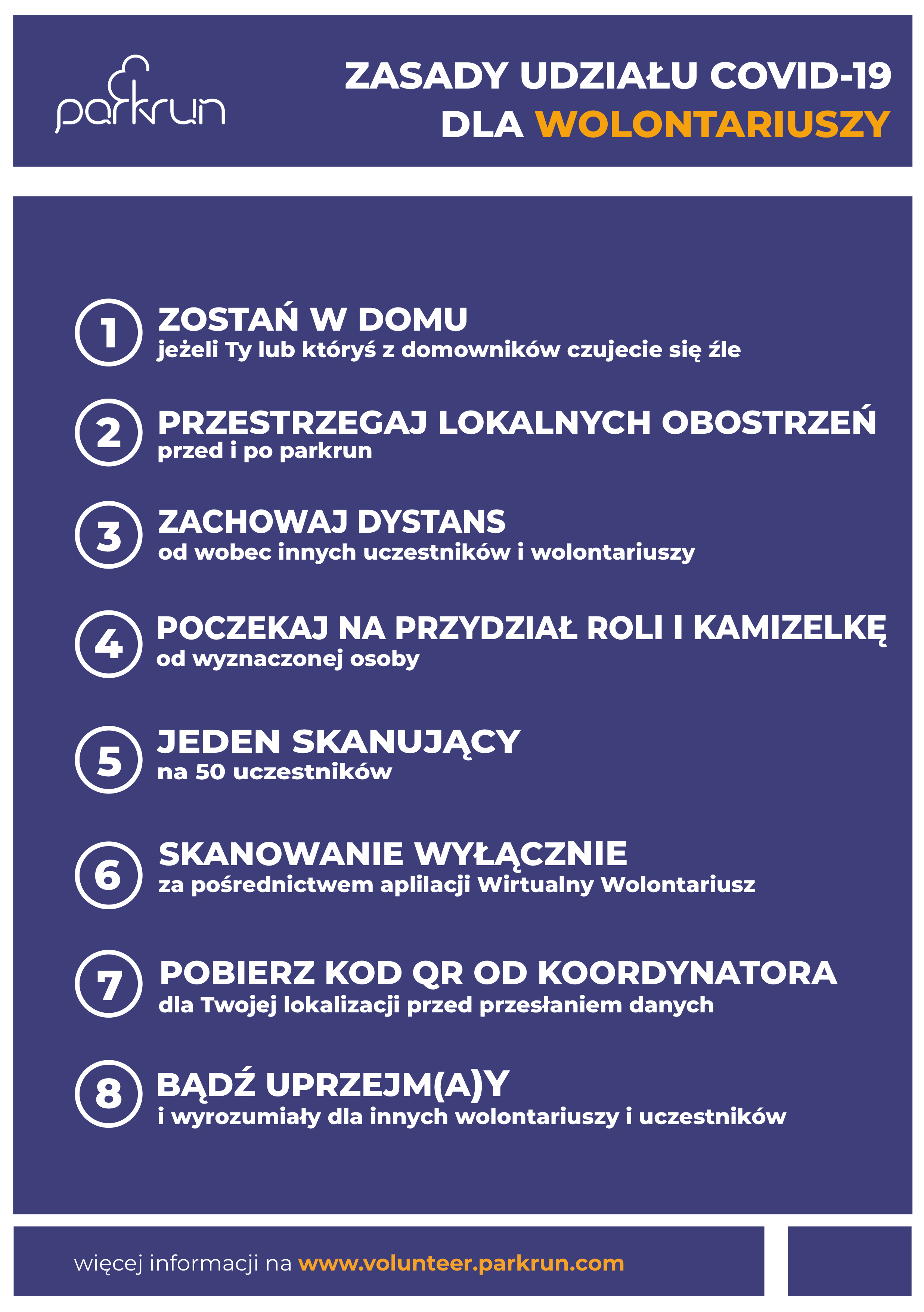 COVID19 parkrun code of conduct_PL wolontariusze