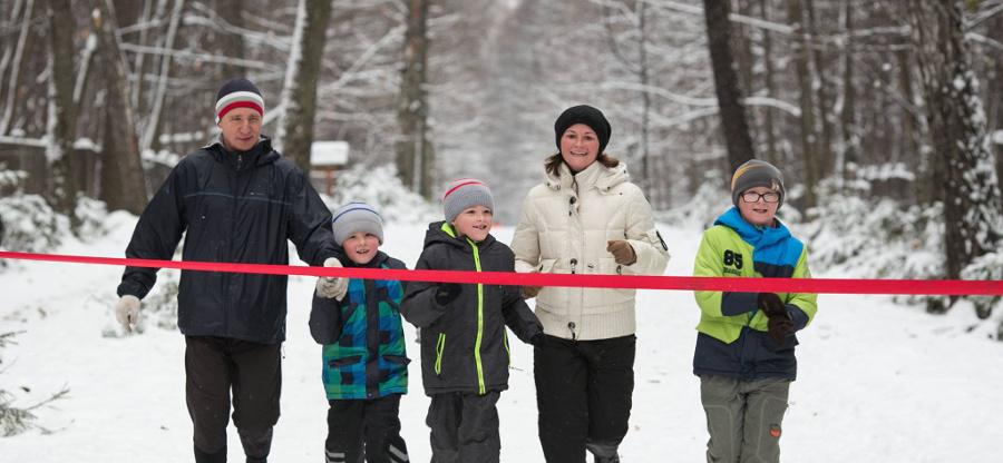 Семейный забег в Тимирязевском
