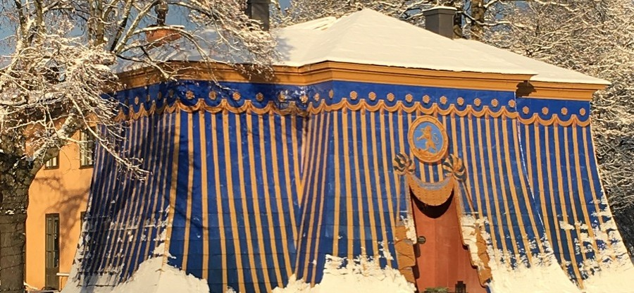 copper tents snowy