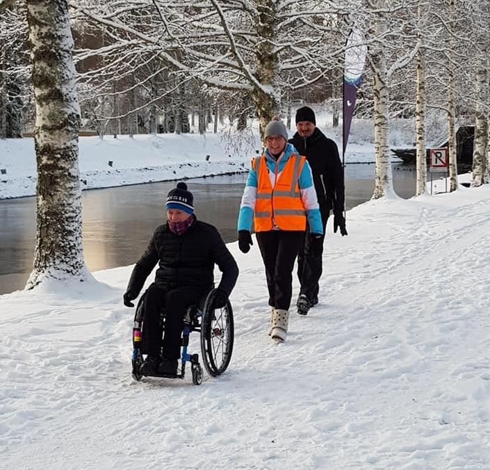 Vääksy kanava wheelchair