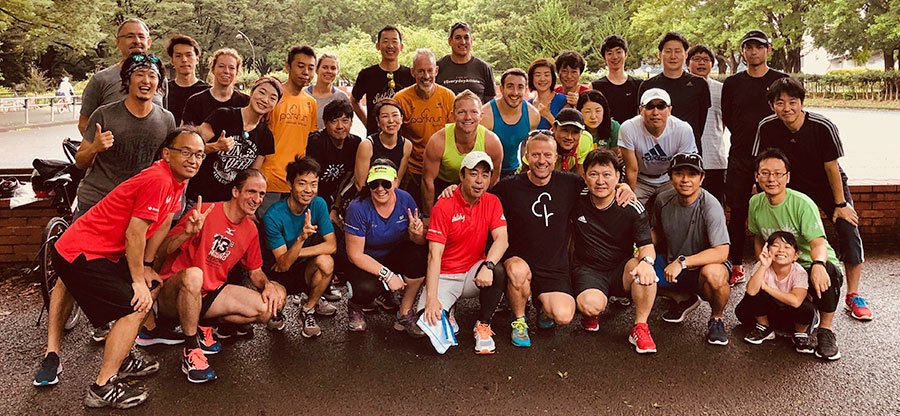 The parkrun global contingent in japan last year