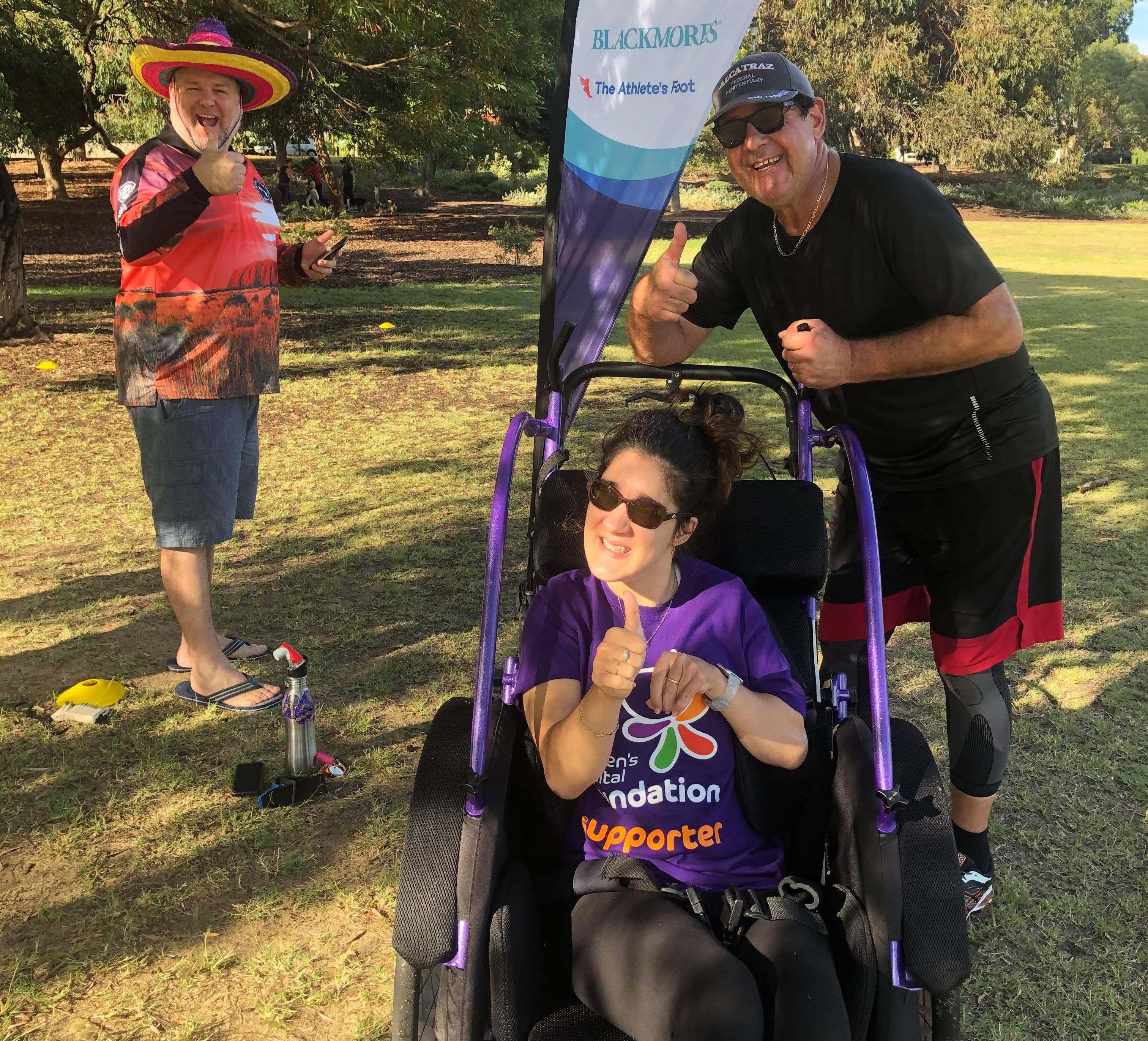 Tayla and Steve- park run