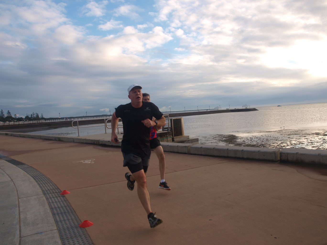 Mark 'doing the easy bit' at his home parkrun, Wynnum