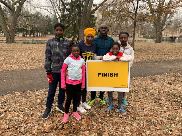 Proud parents, Olasunkanmi and Adenike with children Amira (8), Haliyah (10), Alesha (11) and Ritchie (12)
