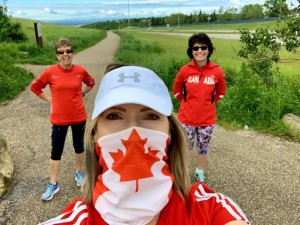 Nose Hill parkrun on Canada Day