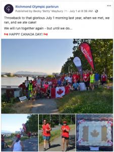 Richmond Olympic parkrun Canada Day