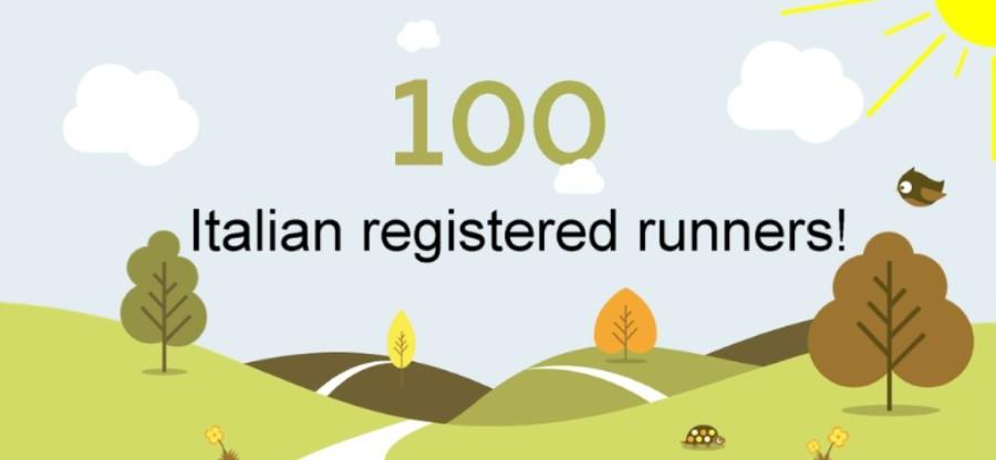 100 italian registered runners