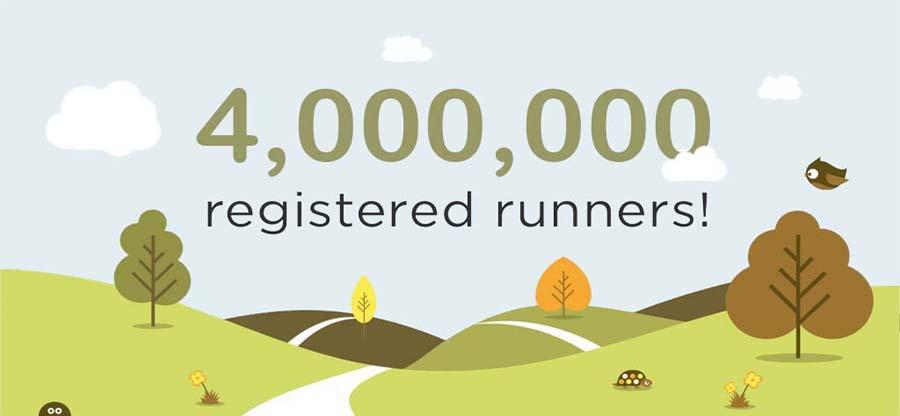 4000000 registered runners