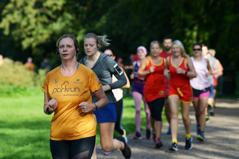 US Airmen volunteer at Thetford Parkrun UK