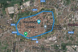 Percorso Mura di Lucca parkrun- 1 giro