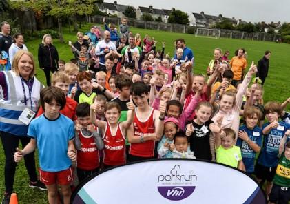 Shelbourne Park junior parkrun in partnership with Vhi