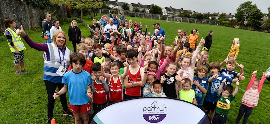 Shelbourne Park junior parkrun in partnership with Vhi