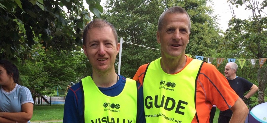 Ross Gallagher ( VI)  and Niall Coppinger , pictured at Tralee parkrun on 13th July. (1)