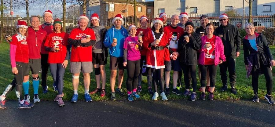 Santa Dash at Poppintree Parkrun 2019