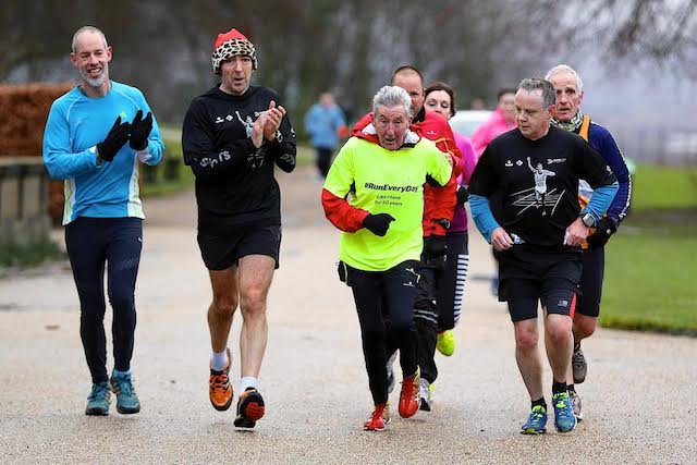 Park Run with Dr Ron Hill MBE commemorating running everyday for 50 years