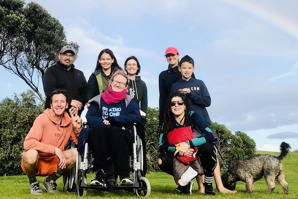 family and wheelchair