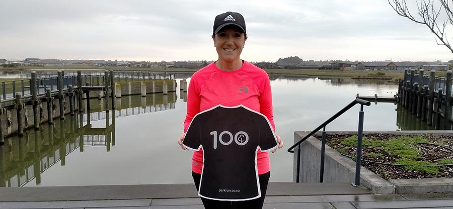 Sandra 100 Parkruns