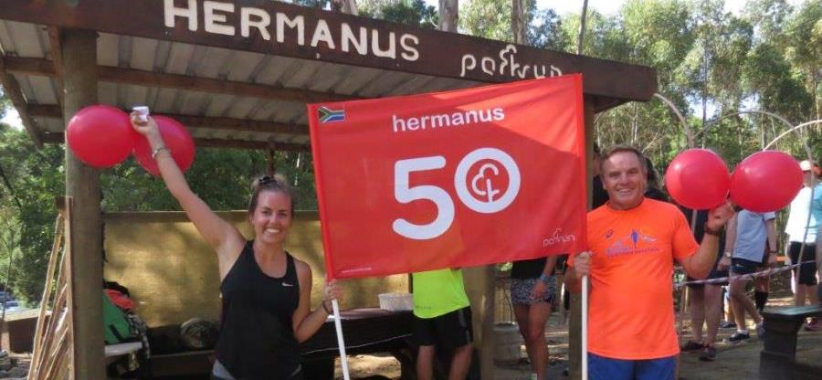 50th parkrun at Hermanus