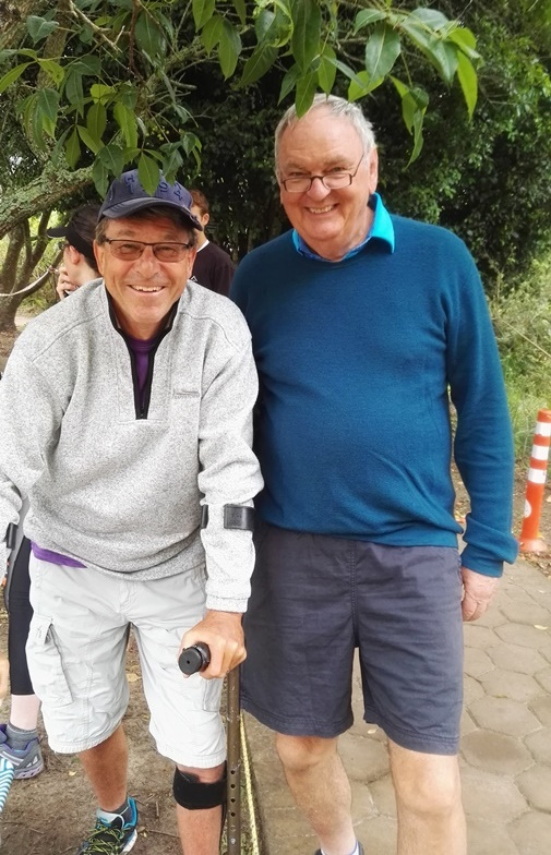 Göran Söderholm and Emile Evert volunteering at George doing Finish Tokens and Finish Token Support