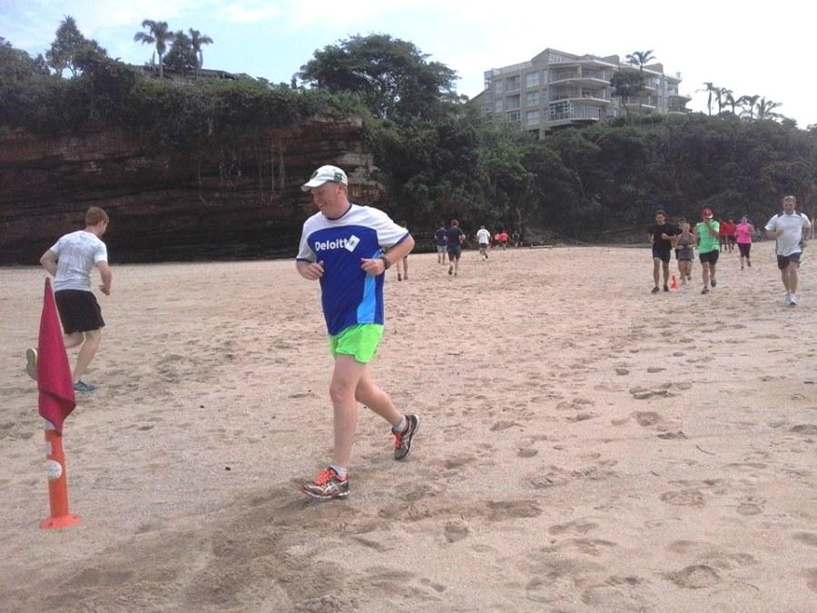 Stephen Lattin taking on the beach