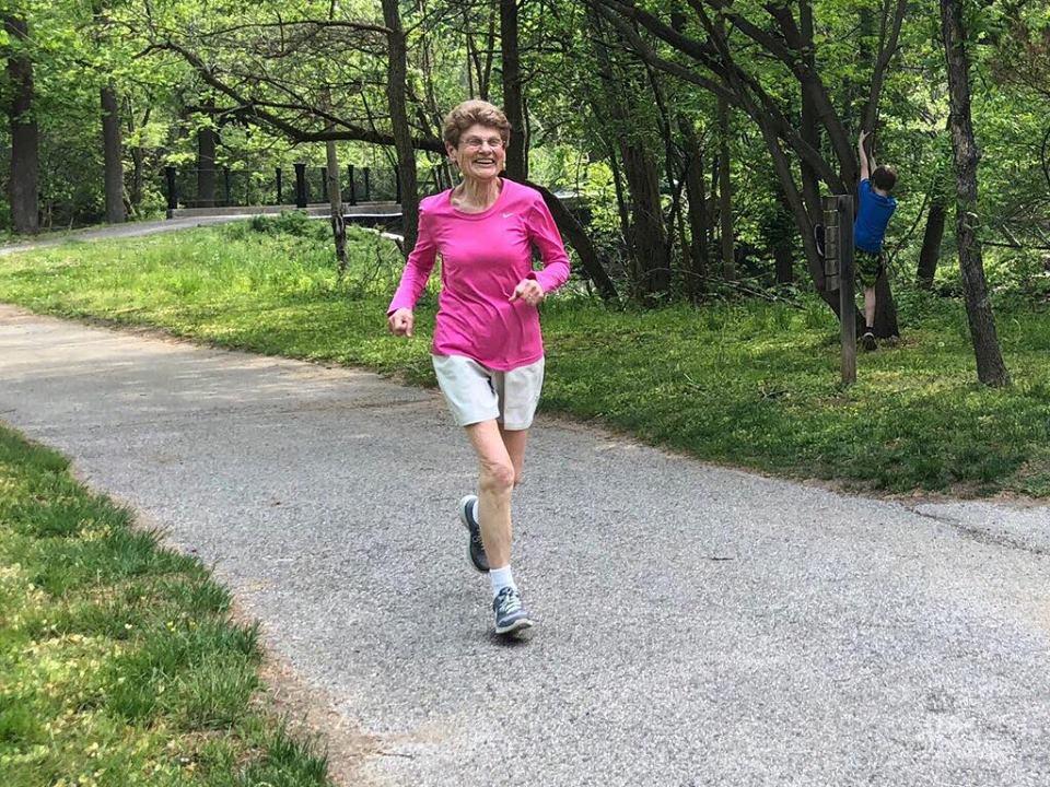 Jo running