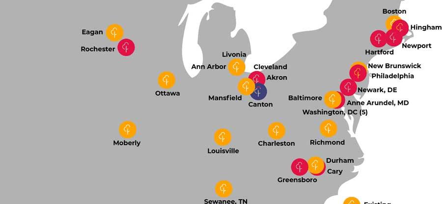 Run Usa Map.Reaching New Communities Parkrun Us Blog