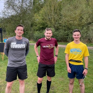 parkrun 3rd 2nd and 1st Ryan