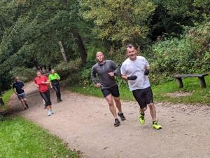parkrun runners at marshal 2 Catrin Egan