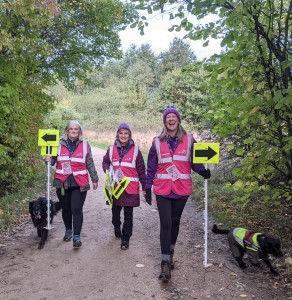 parkrun triumphant marshals and dogs Catrin Egan