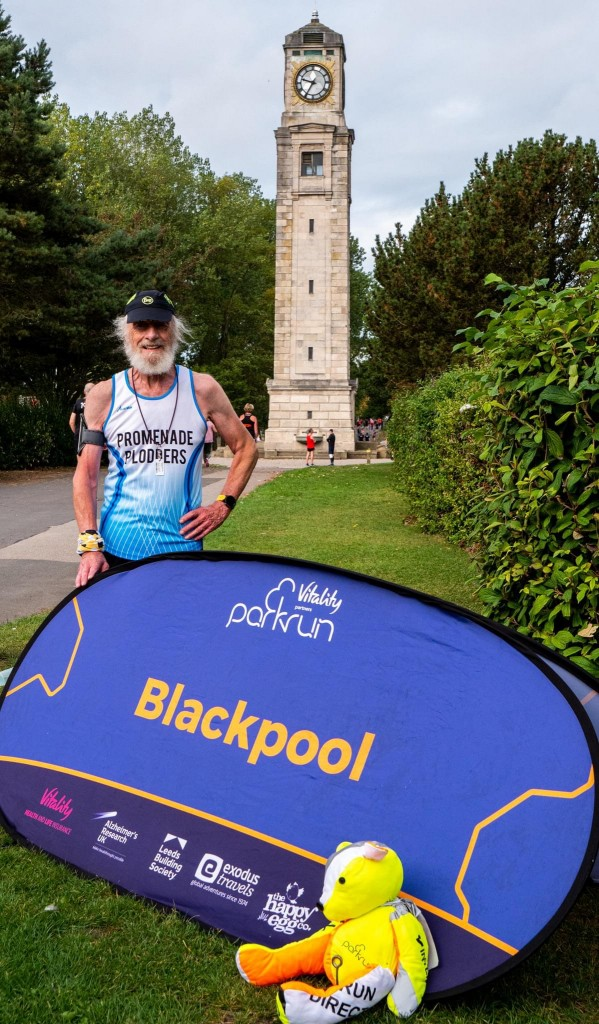 From Bognor Regis to Blackpool - this runner chose our resort for his 100th Tourist parkrun. Congratulations. Image courtesy of Elizabeth Gomm
