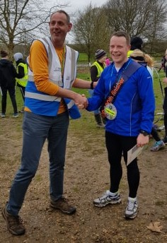 Gethin JONES, Guildford parkruns' 100,000th finisher!