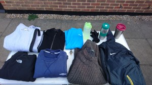 Lost property which has gathered over the last few months