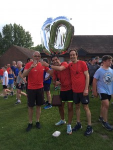 Rob Bate celebrating his 100th run. With Champagne!!!