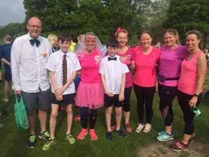 Anna and her parkrun wedding party