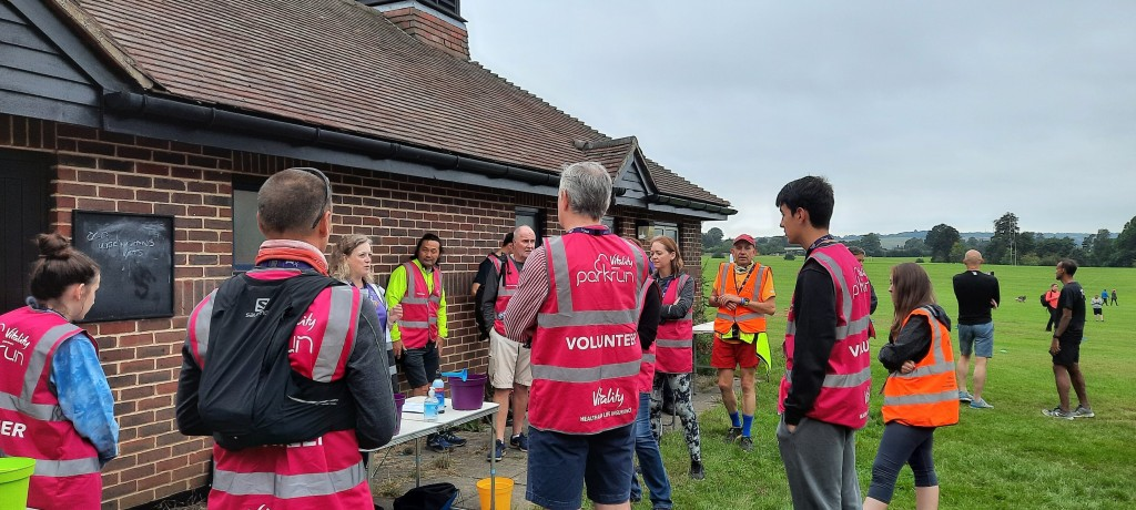 Marshals and Tailwalkers being briefed by RD Julie