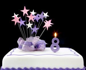 8 cake